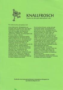 Infoblatt Campus Grün