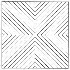 Francois Morellet: Angles droits convergents (1956)
