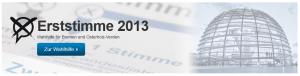 Abbildung 1: Screenshot von der Webansicht der Wahlhilfe