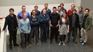 Abbildung 2: Gruppenfoto von Studierenden aus dem Projektseminar mit Professor Probst