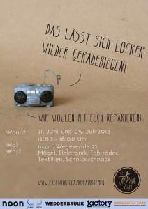 Abbildung 1: Von Studierenden entworfenes Plakat für das Repair Café