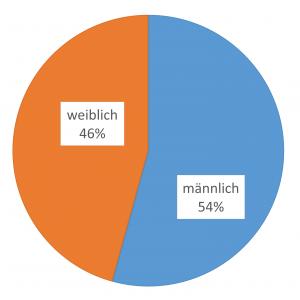 Abbildung 1: Geschlechterverteilung der Teilnehmer