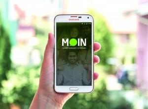 "Figure 1: ""Moin"" application, first screen"