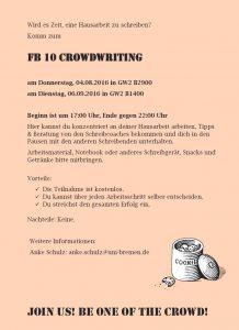 Abbildung 1: Crowdwriting-Flyer