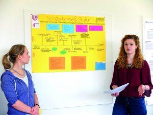 Abbildung 3: Poster-Präsentation der Gruppe »Schizophrenie«