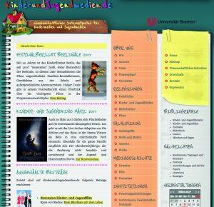 Abb. 1: KinderundJugendmedien.de – Wissenschaftliches Internetportal für Kindermedien und<br /> Jugendmedien