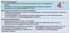 "Maßnahmenpaket 2: ""Forschendes Studieren als Studiengangsprofil"""