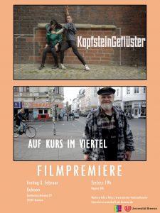"""Abbildung 2: Filmpremiere von """"KopfsteinGeflüster"""" und """"Auf Kurs im Viertel"""""""