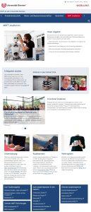Abbildung 2: Screenshot der Seite MINT Studieren: Im Vordergrund stehen die Markenzeichen des Lehrprofils der Universität Bremen: Forschendes Studieren, Studieneingangsphase, individuelle Unterstützungsangebote im Studium, Auslandsaufenthalte und weitergehende Qualifikation bzw. Berufseinstieg.