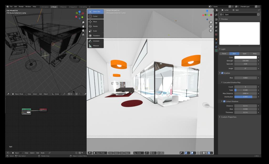 Screenshot von Blender