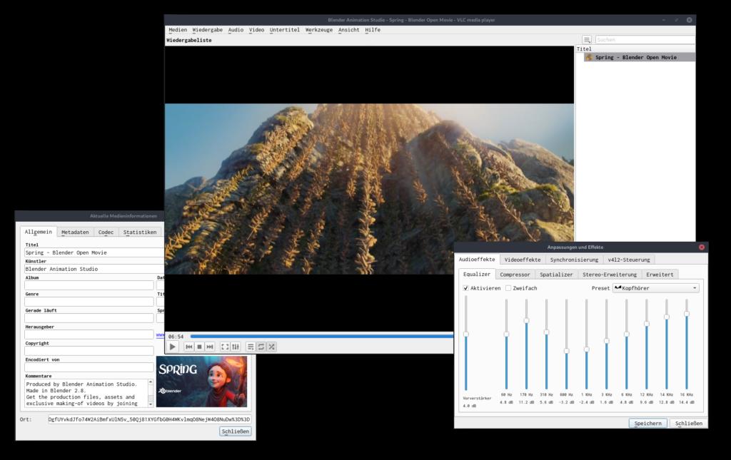 Screenshot von VLC
